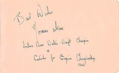 Norman Snow Autograph