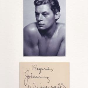 Johnny Weissmuller was an Austro-Hungarian-born American competition swimmer and actor, best known for playing Edgar Rice Burroughs's ape man Tarzan