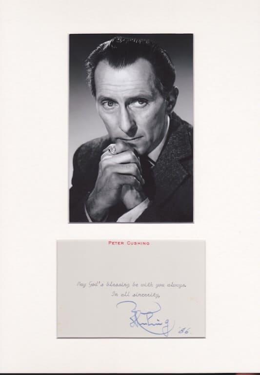 Peter Cushing Autograph