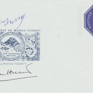 Signed anniversary Cover Mount Everest