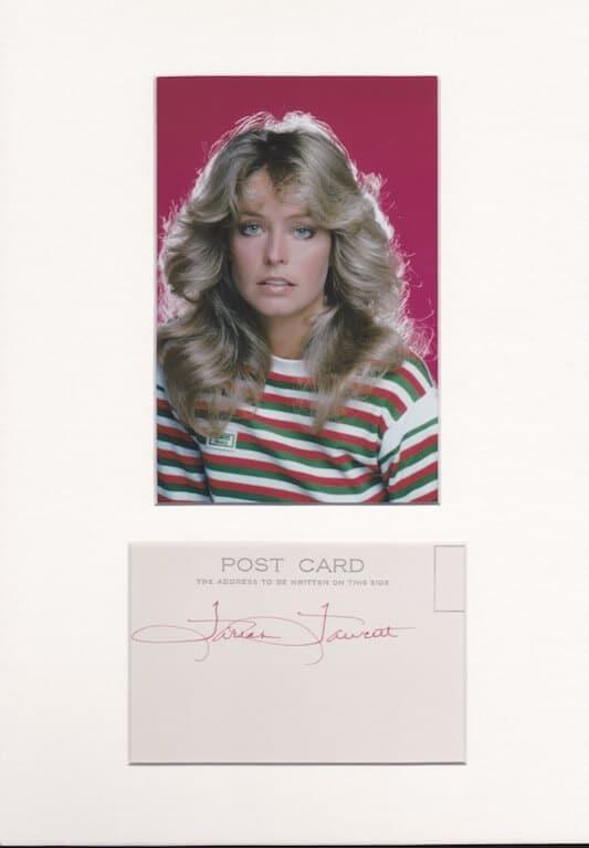 Farrah Fawcett Autograph