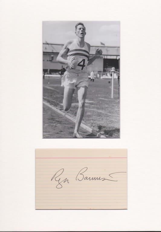 Roger Bannister Autograph