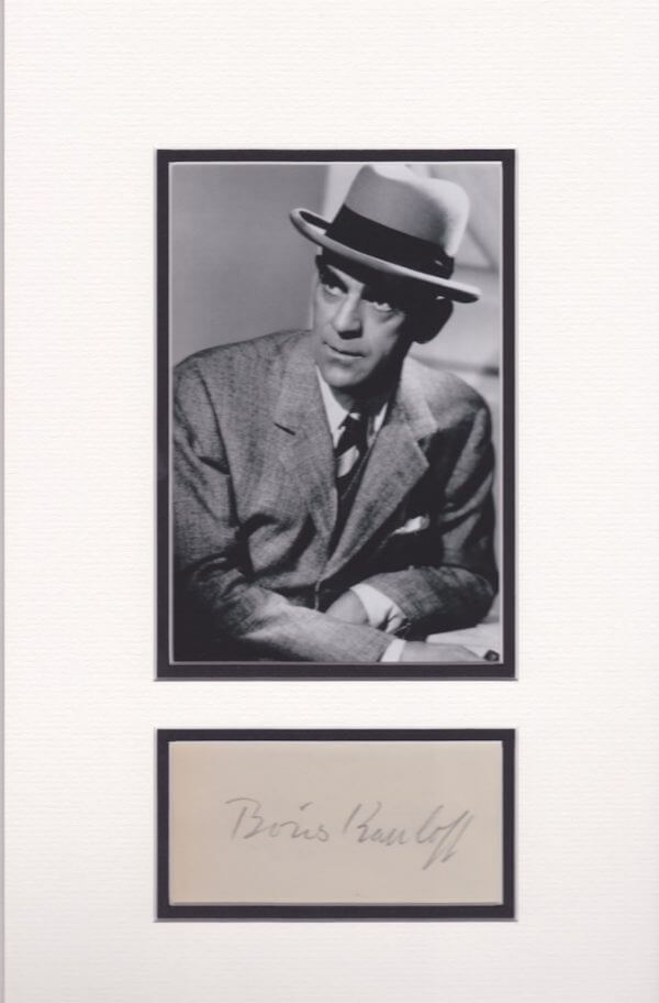 Boris Karloff Mounted Autograph