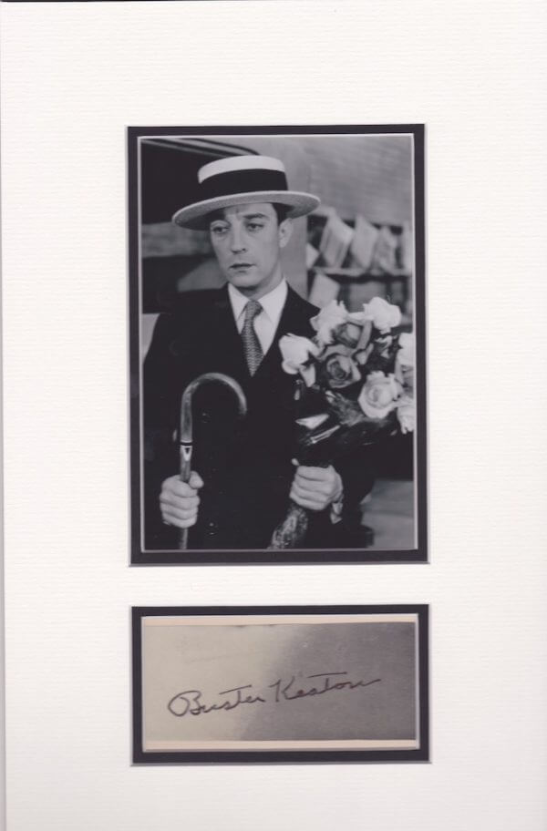 Buster Keaton signed Autograph