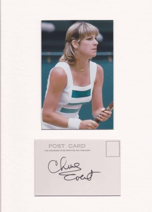 Chris Evert Autograph