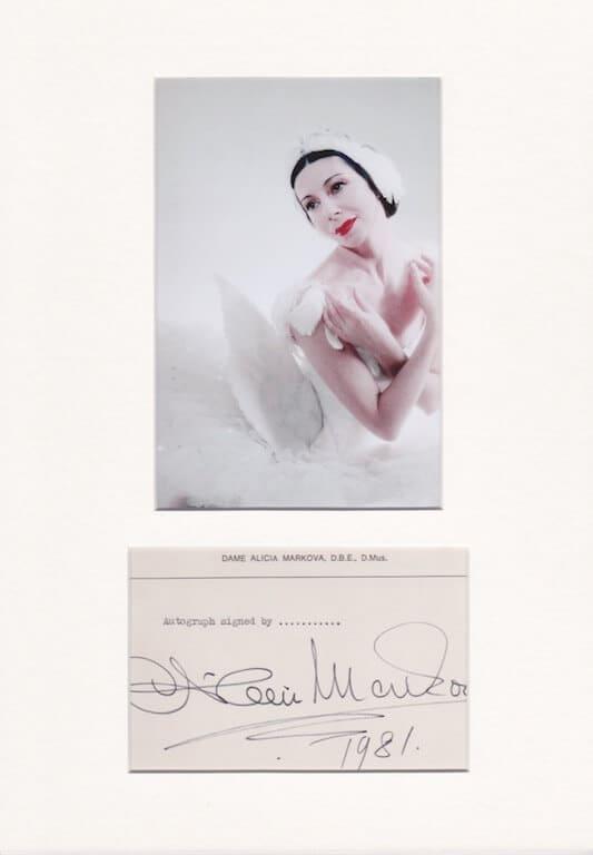 Dame Alicia Markova Autograph
