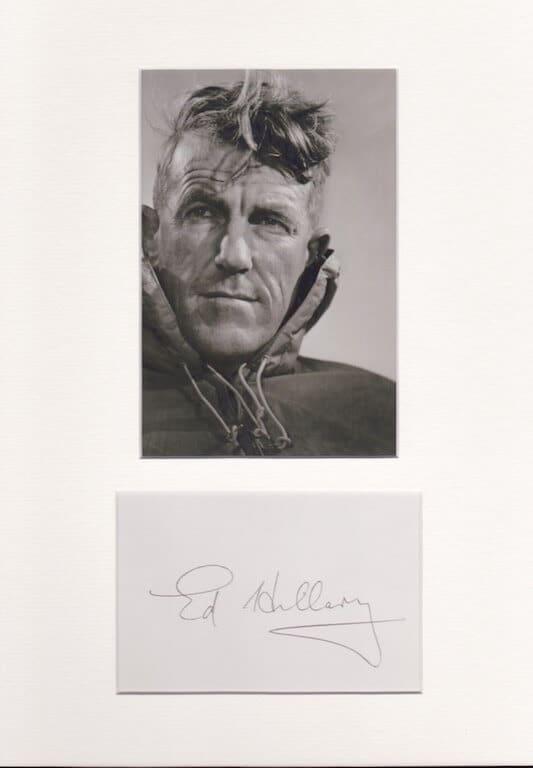 Edmund Hillary Autograph
