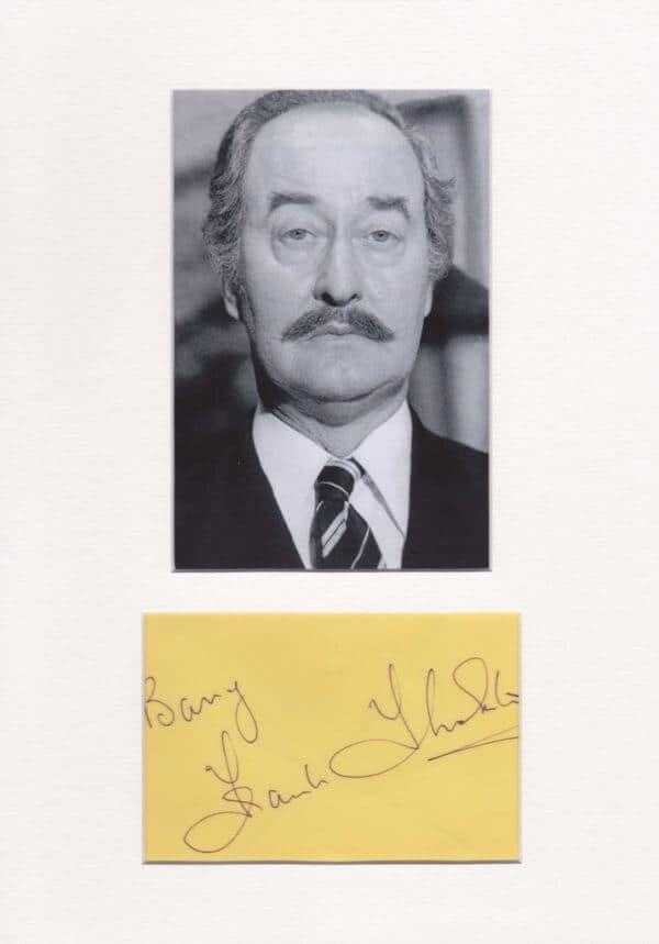 Frank Thornton Autograph