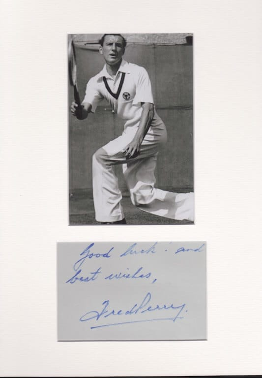 Fred Perry Autograph