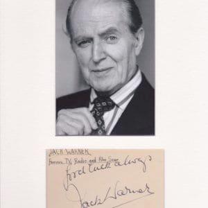 Jack Warner, OBE (born Horace John Waters, 24 October 1895 – 24 May 1981)