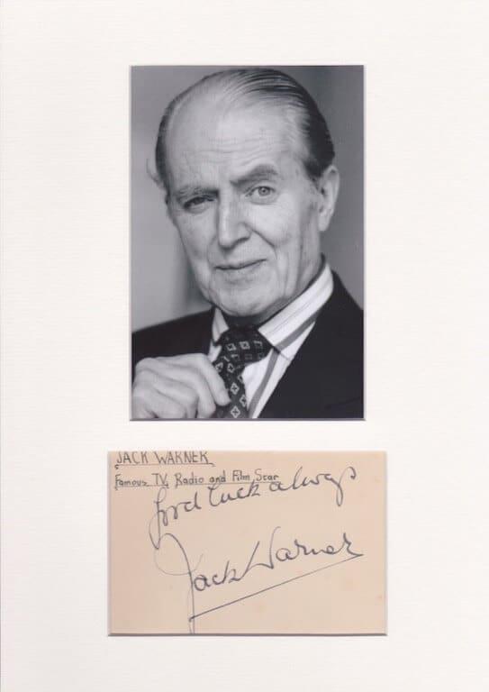 Jack Warner Autograph