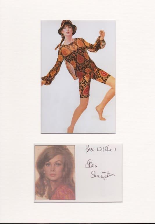 Jean Shrimpton Autograph 1