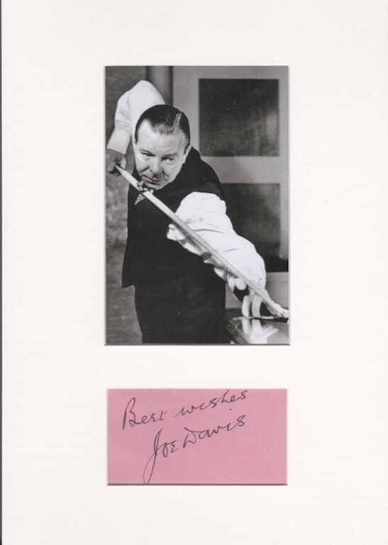 Joe Davis Autograph