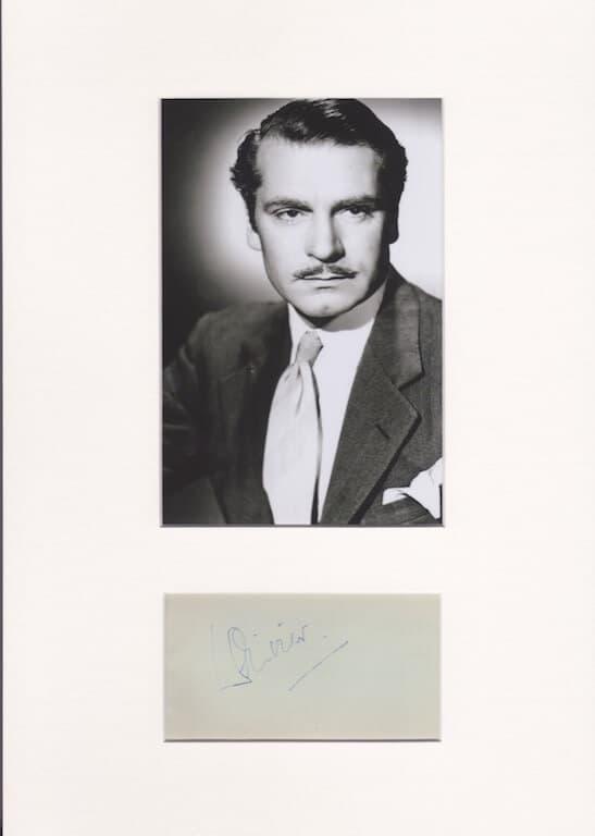 Laurence Olivier Autograph