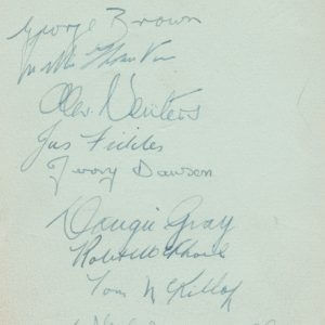 Glasgow Rangers Autographs from 1938-39 Season