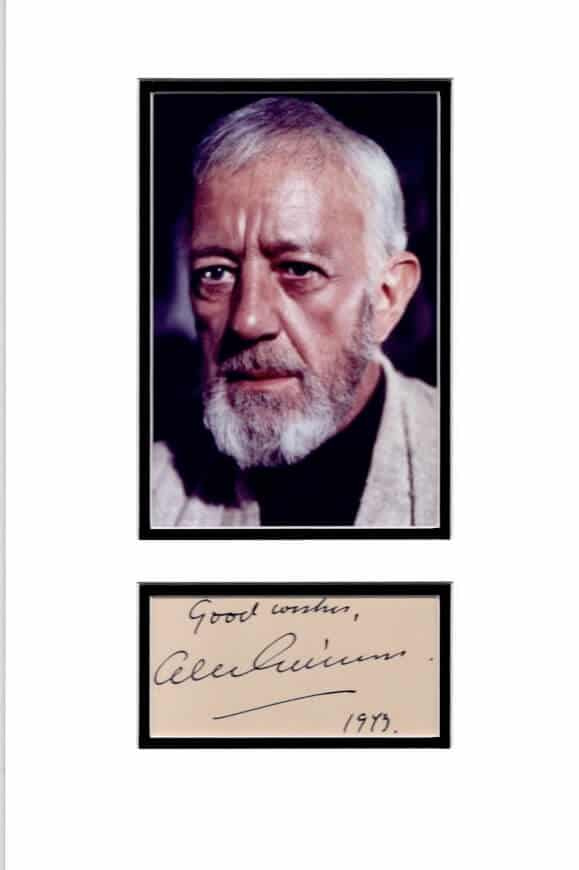 Alec Guinness Signed Autograph Page