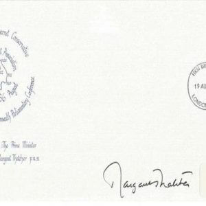 Margaret Thatcher signed Finchley and Friern Barnet signed official cover