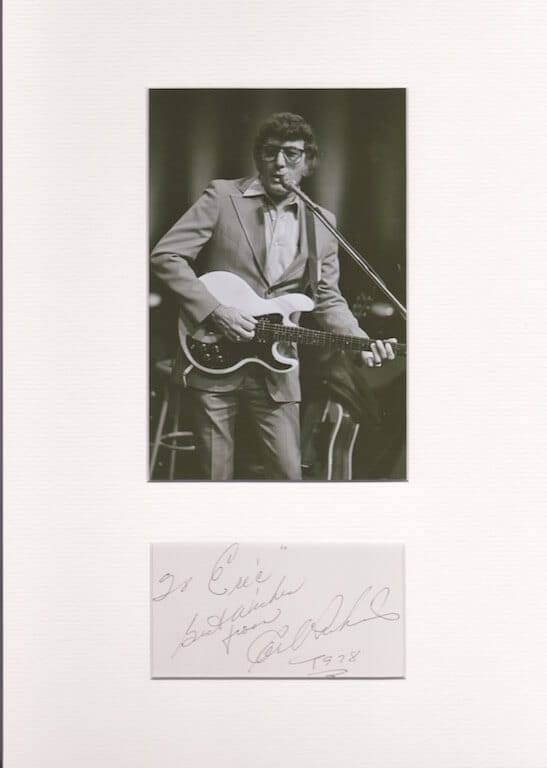 Carl Perkins signed autograph