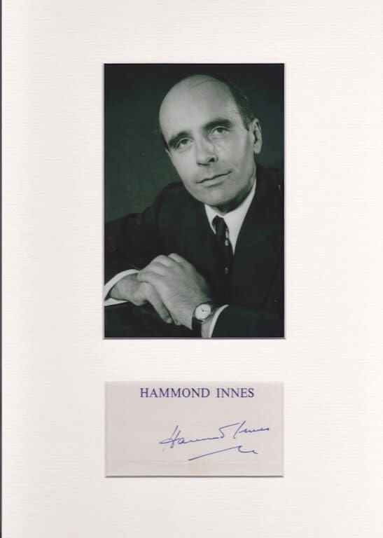 Hammond Innes Autographed Card