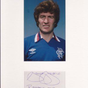 Sandy Jardine Rangers FC Signed Autograph