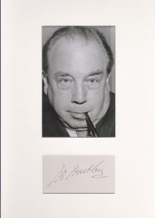 J B Priestley Mounted Autograph