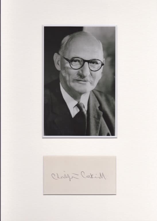 Christopher Cockerell Mounted Autograph