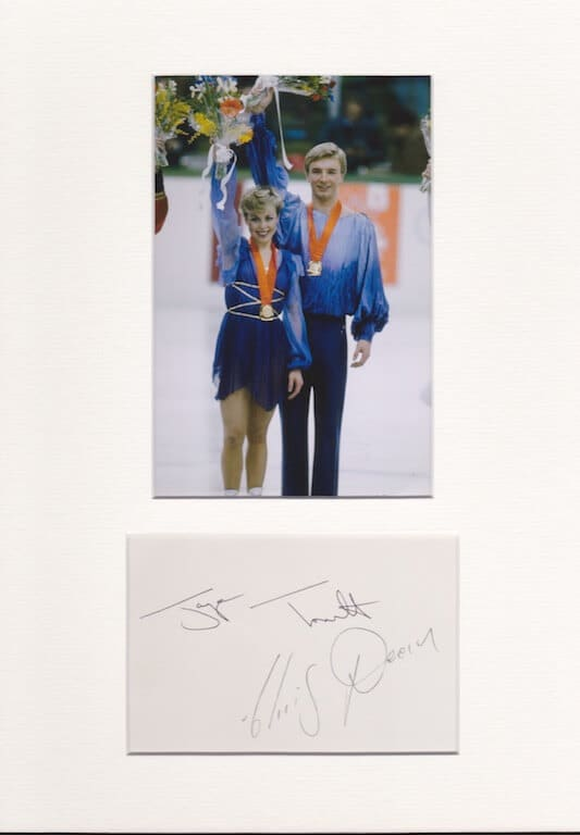 Torvill and Dean Hand Signed Autograph