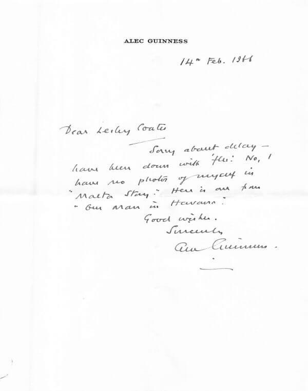 Alec Guinness Letter_001