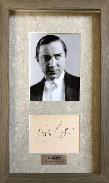 Bela Lugosi Autograph Page Signed
