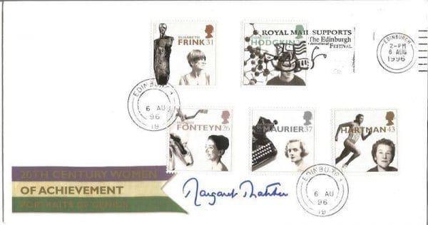 Margaret Thatcher Women's Achievement Signed Cover