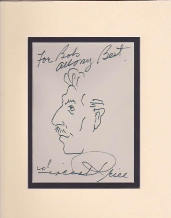 Vincent Price Autograph Page