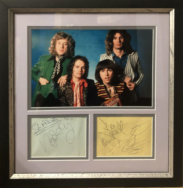 Slade Autograph Page Display
