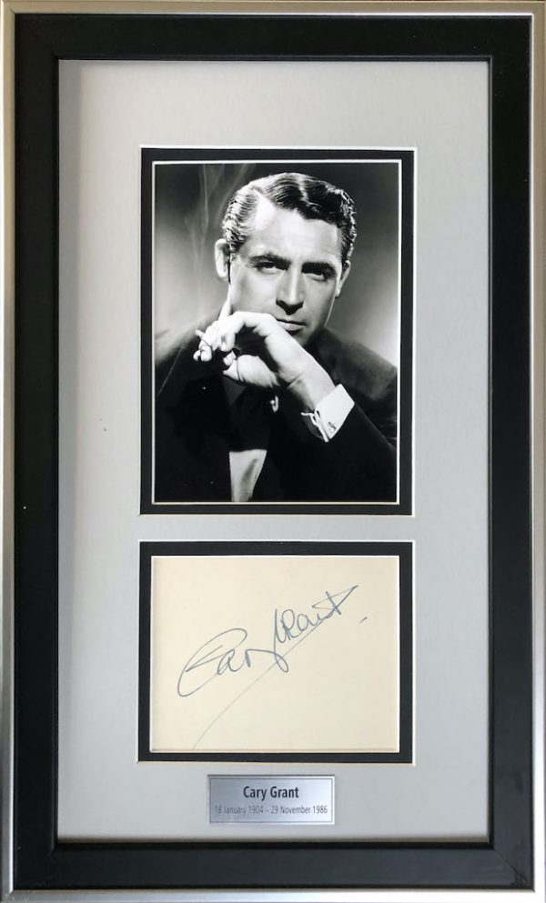Cary Grant Framed Autograph