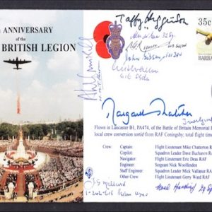 The cover has also been signed  with 10 Battle of Britain Veterans.