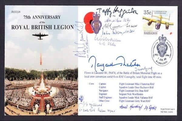 Margaret Thatcher Signed Royal British Legion FDC
