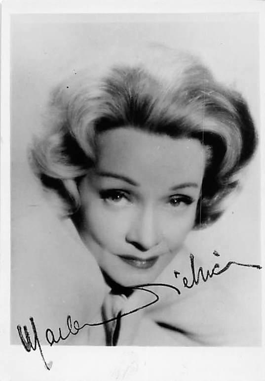 Marlene Dietrich signed B/W photo