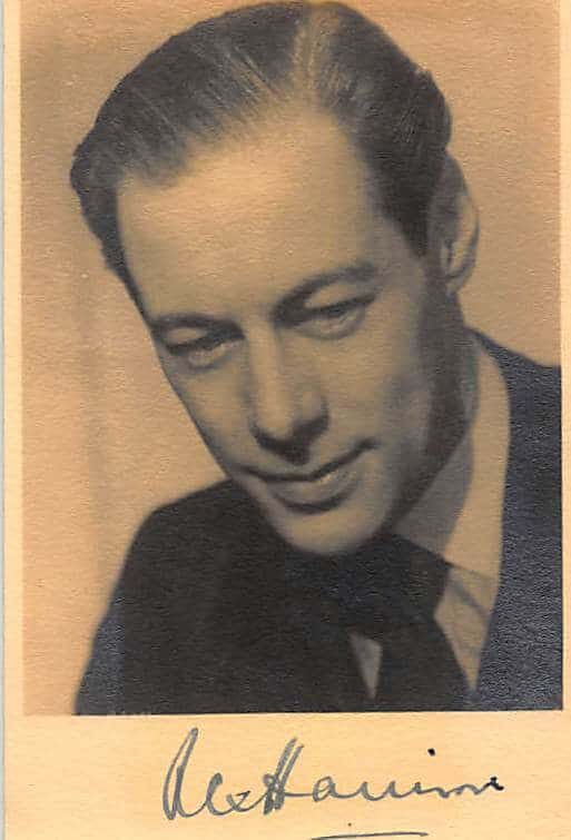 Rex Harrison Signed Photo
