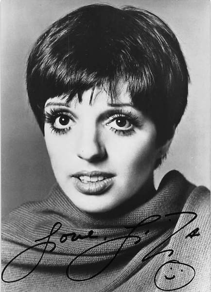 Liza Minnelli Signed Photo