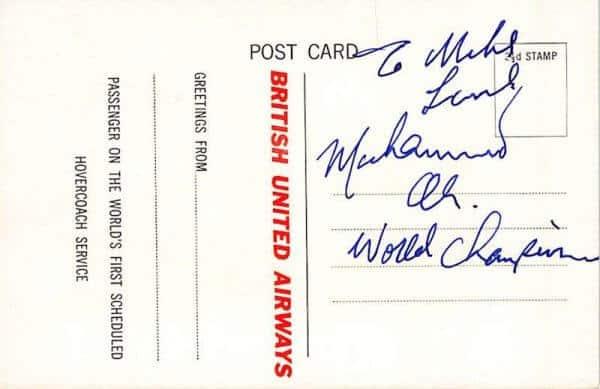 Muhammed Ali Signed Postcard