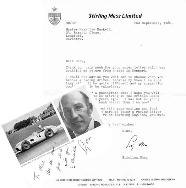 Stirling Moss Letter