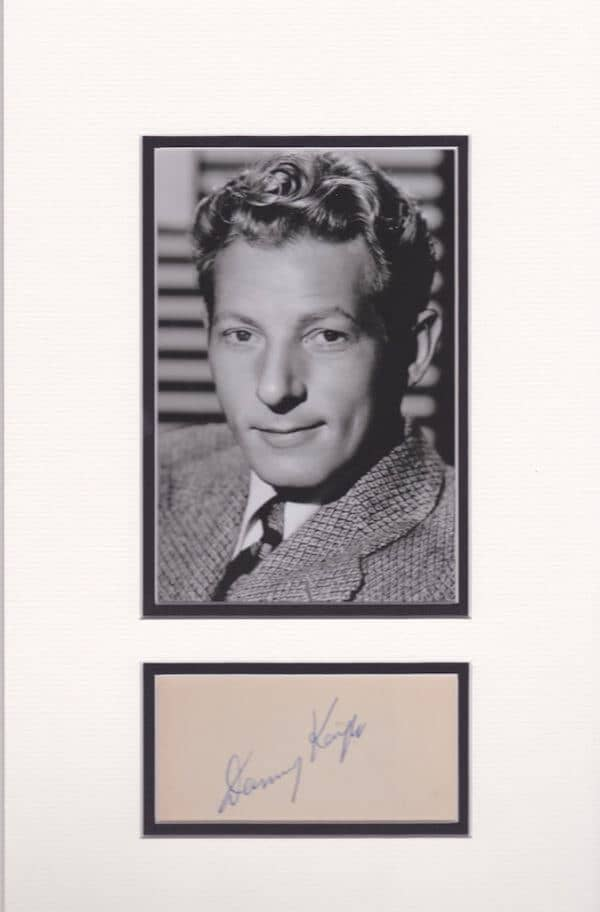 Danny KAye Signed and Mounted