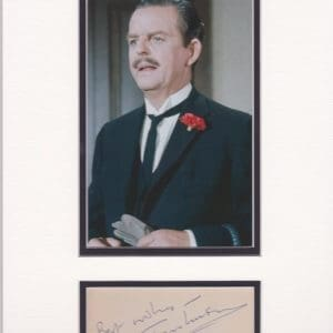 DAVID TOMLINSON d2000. English comedy actor best known for his roles in 1960s films including ; Mary Poppins / Bednobs & Broomsticks and The Love Bug. He died following a stroke aged 83 in 2000.