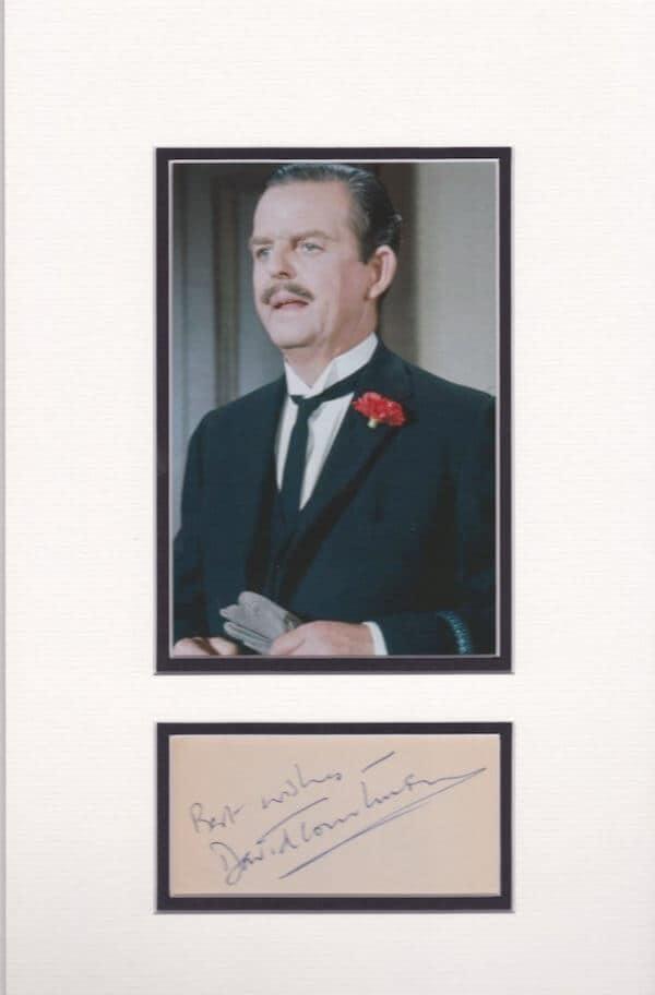 David Tomlinson Signed Autograph