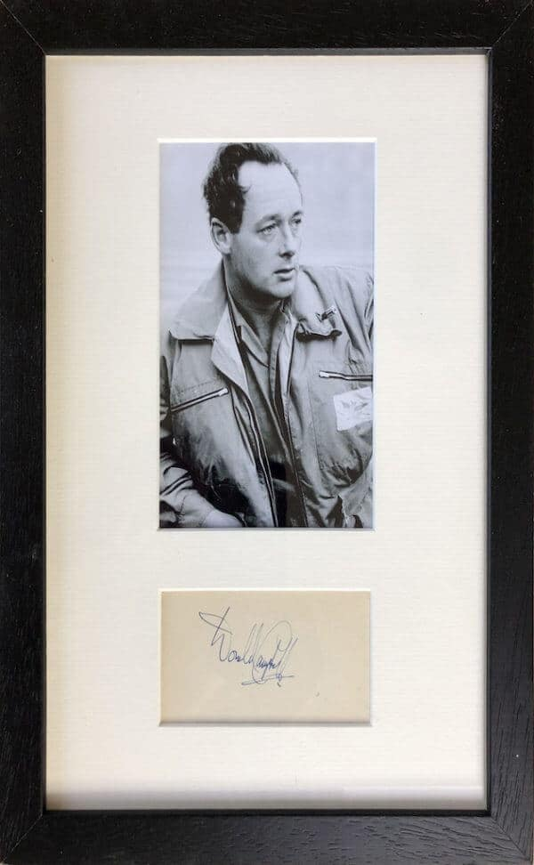 Donald Campbell Framed Autograph