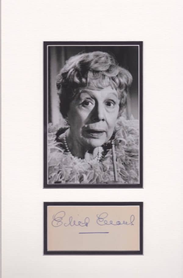 Edith Evans Autograph Mounted