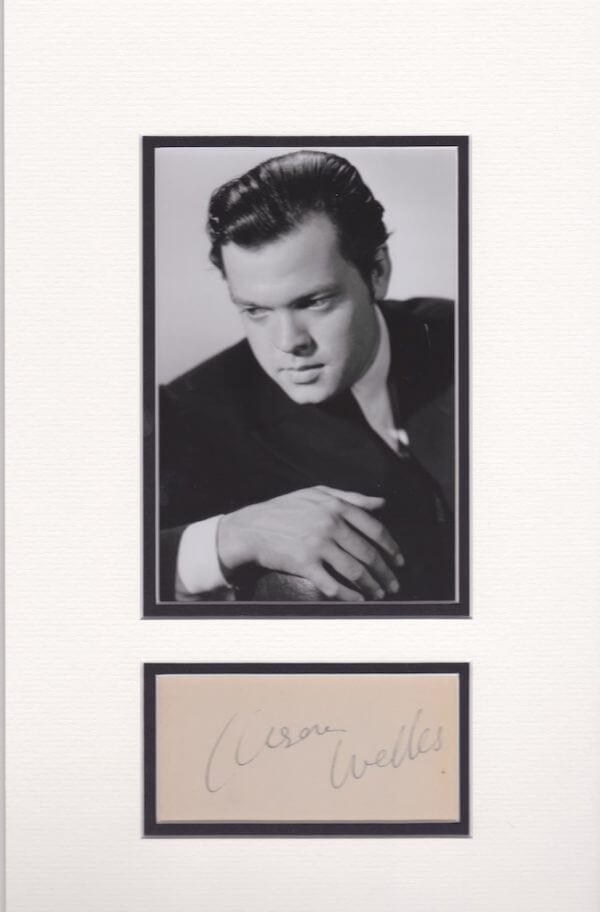 Orson Welles Mounted Autograph