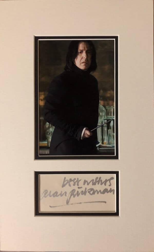 lan Rickman Mounted Autograph