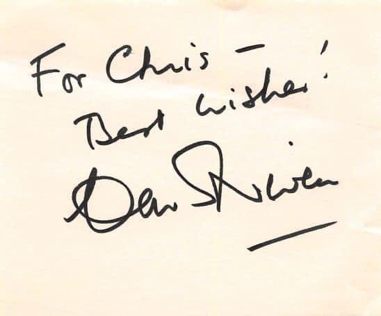 David Niven Autograph