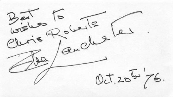 Elsa Lanchester Autograph