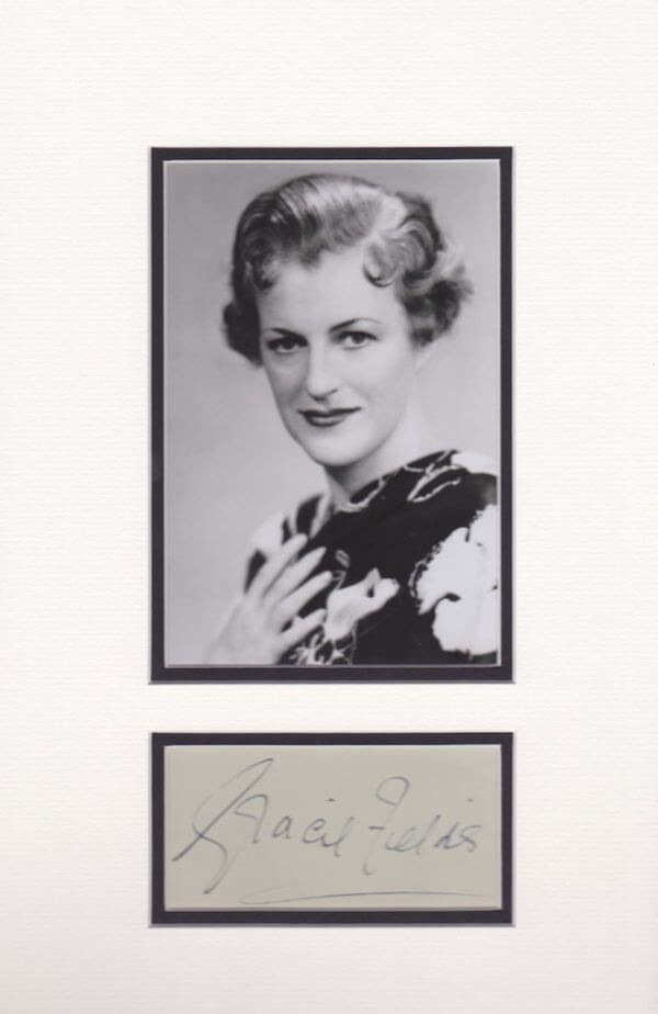Gracie Fields Mounted Autograph